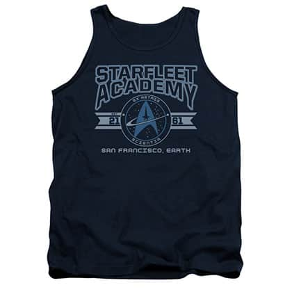 Star Trek Starfleet Academy Earth Blue Tank Top