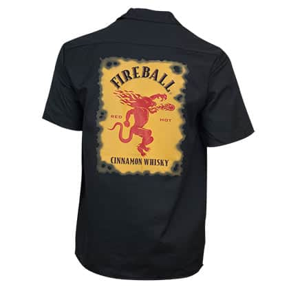 Fireball Whisky Black Work Shirt