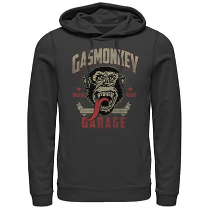 Gas Monkey Garage Framed Black Pullover Hoodie