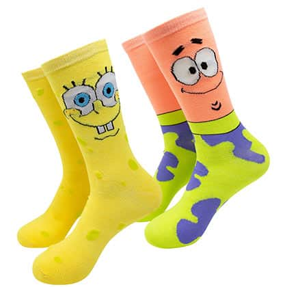 SpongeBob And Patrick 2-Pack Crew Socks