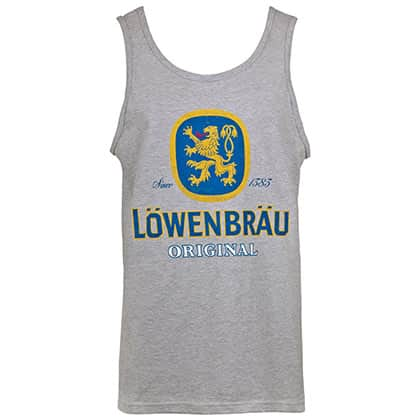Lowenbrau Logo Men's Grey Tank Top