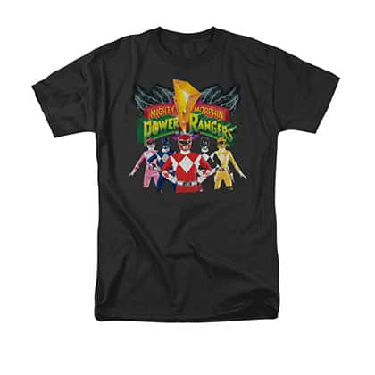 Power Rangers Men's Black Unite T-Shirt