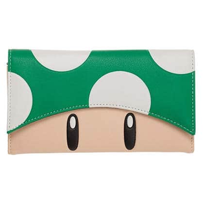 Super Mario Bros. Green Mushroom Flap Women's Wallet