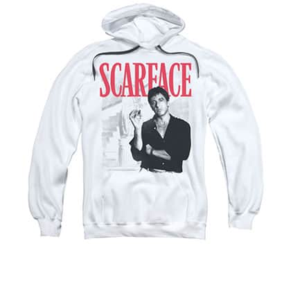 Scarface Men's White Stairway Pullover Hoodie