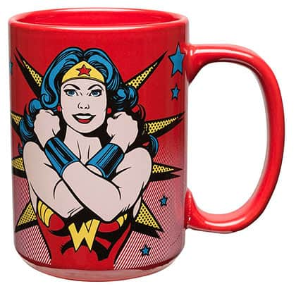 Wonder Woman Strongest Woman Alive Red Coffee Mug