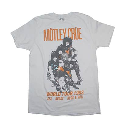Motley Crue Vintage-Inspired World Tour 1983 T-Shirt